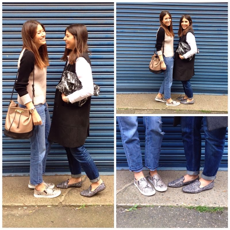 <u>what were wearing..<br/>BOYFRIEND JEANS & FLATS</u>