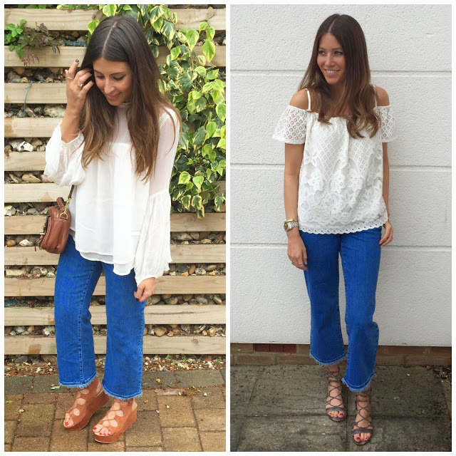 <u>monday style…<br/>FRAYED DENIMS</u>