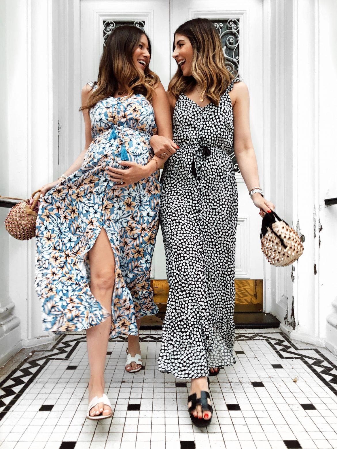 eea52d9d347df Philippa's wearing New Look dress | BeachFlamingo bag | Hermes sandals  (high street version here) Sarah's wearing: New Look dress | BeachFlamingo  bag ...