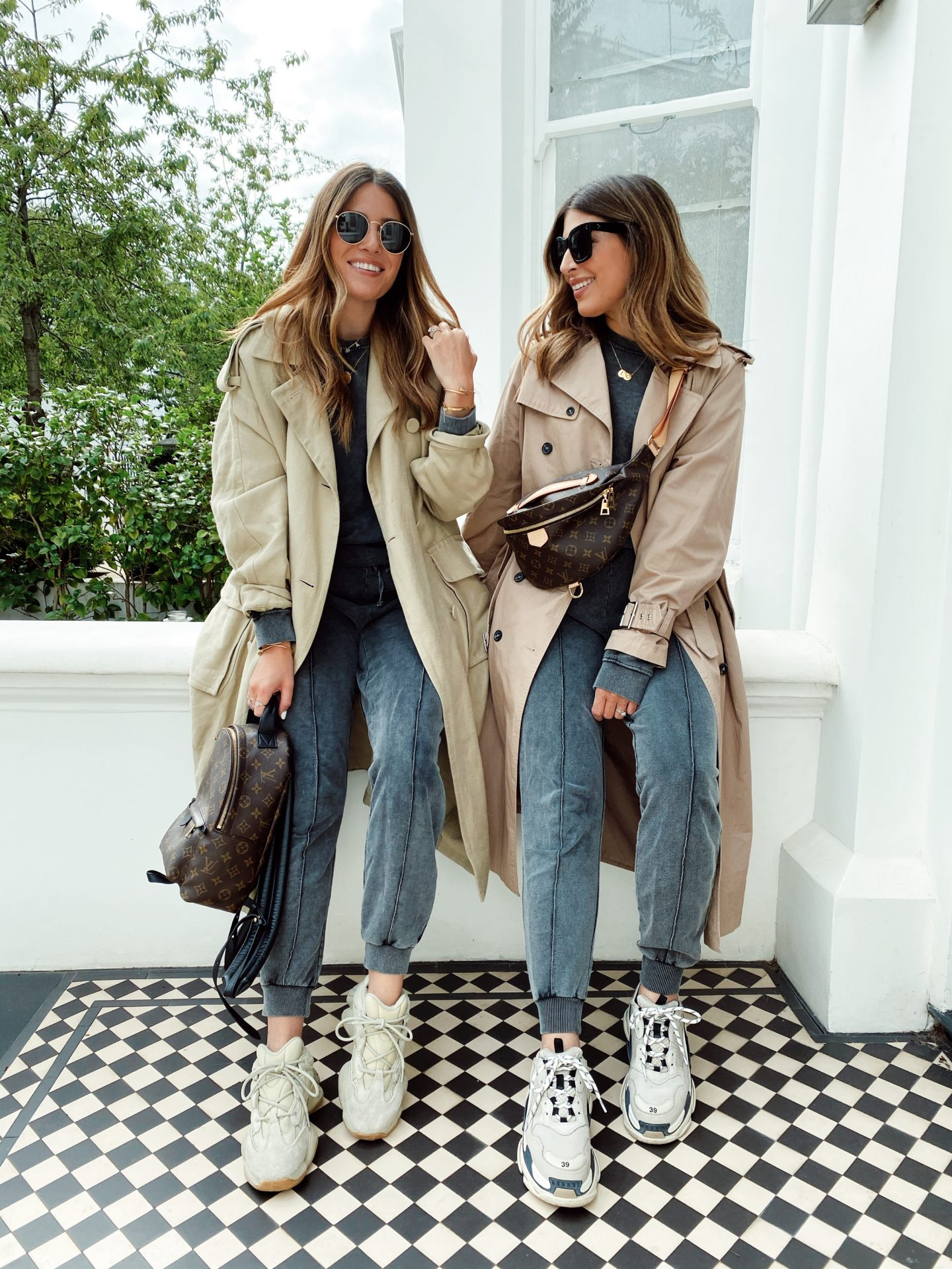 SCHOOL GATE CHIC : LOUNGE SETS, TRENCH COATS & CHUNKY TRAINERS